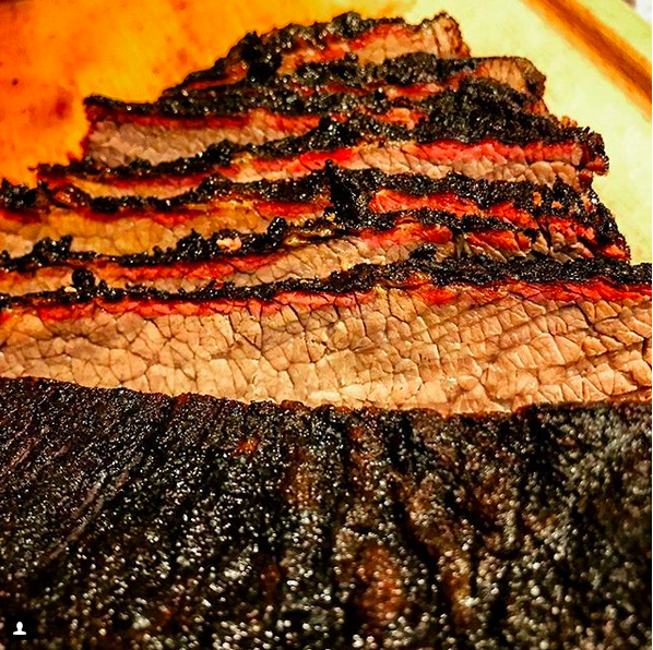Smoke Ring on a Traegered Packer Prime Brisket